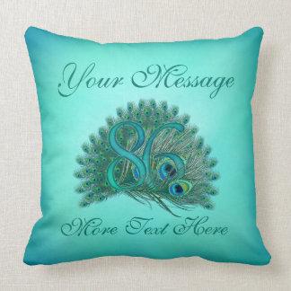 Customized text elegant 86th Birthday 86 Pillows