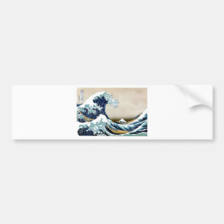 Customized The Great Wave off Kanagawa Gifts Bumper Sticker