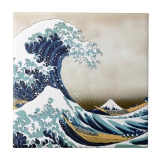 Customized The Great Wave off Kanagawa Gifts Ceramic Tile