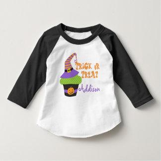 Customized Trick or Treat Cupcake T Shirts