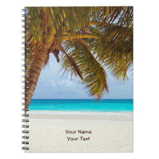Customized Tropical Chilling Beach Scene Notebook