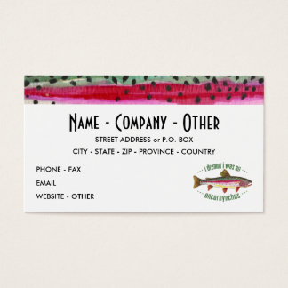 Customized Trout Fishing Business Card
