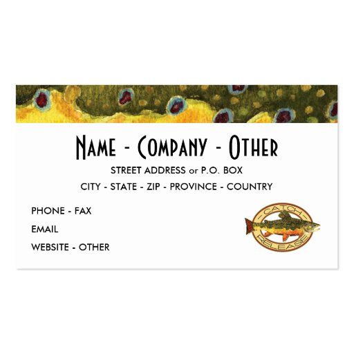 Customized Trout Fishing Business Card Templates