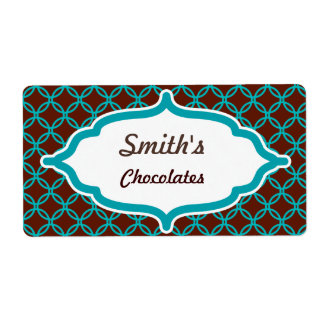 Customized Turquoise Lace Labels