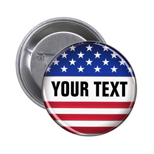 Customized USA Button