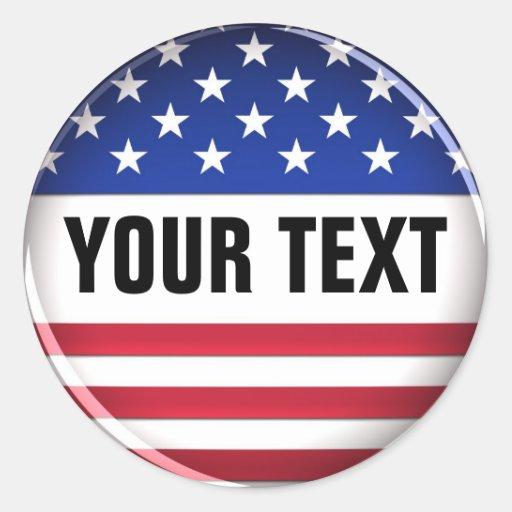 Customized USA Sticker