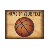 Customized Vintage Basketball Door Mat, YOUR TEXT Doormat
