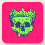 Customized Vintage Crowned Skull Coasters