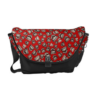 Customized Vintage Crowned Skulls Commuter Bags