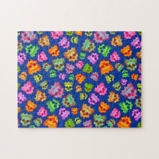 Customized Vintage Crowned Skulls Jigsaw Puzzles