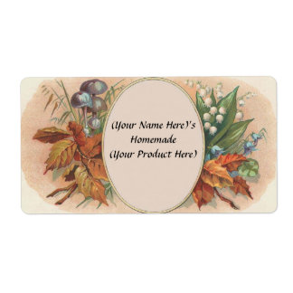 Customized Vintage Floral Canning / Candle Label 2 Shipping Label