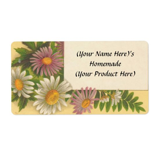 Customized Vintage Floral Canning / Candle Label C