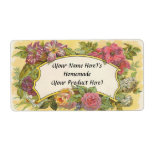 Customized Vintage Floral Canning or Candle Label Shipping Label