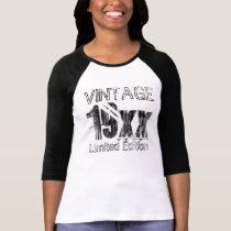 Customized Vintage Limited Edition Birthday T-Shirt