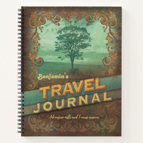 Customized Vintage Travel Journal