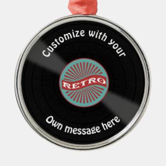 Customized Vinyl Record Metal Ornament