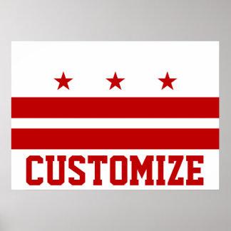 Customized Washington D.C. Flag Poster