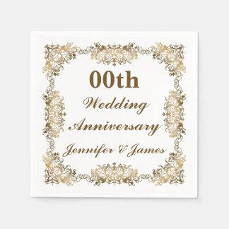 Customized Wedding Anniversary Paper Napkins