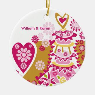 Customized Wedding Cake  Keespake Ornament