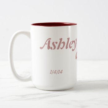 Customized Wedding Date Mug by CREATIVEWEDDING at Zazzle
