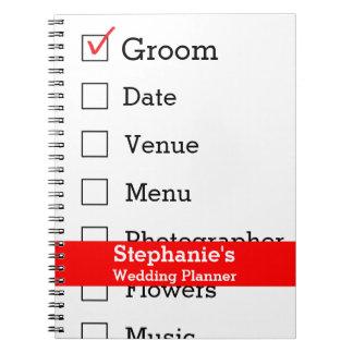 Customized Wedding Planner Checklist Note Books