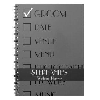Customized Wedding Planner Checklist Spiral Notebook