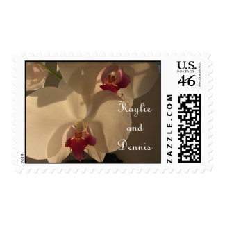 Customized Wedding Postage Brown Cream Orchid