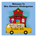 Customized Welcome to School Classroom Poster