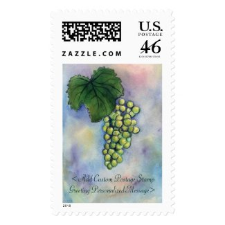 Customized White Wine Grapes Postage Stamps