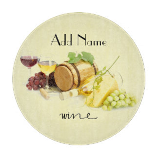 Customized Wine and Cheese Glass Cutting Board
