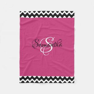 Customized with Your Monogram - Fleece Blanket