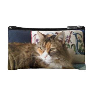 Customized Wristlet-Calico Cat Makeup Bag