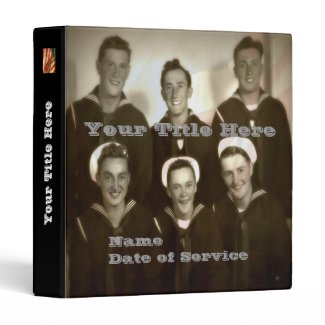 Customized WWII Navy Veteran Photo Album Binders