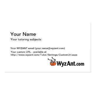 Customized WyzAnt Business Cards