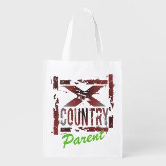Customized XC Bag - Cross Country Parent Reusable Grocery Bag