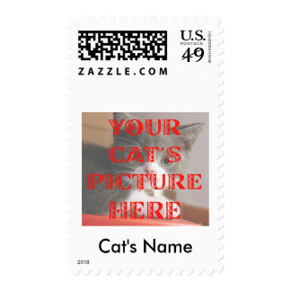 Customized Your Cat's Photo Postage Stamps
