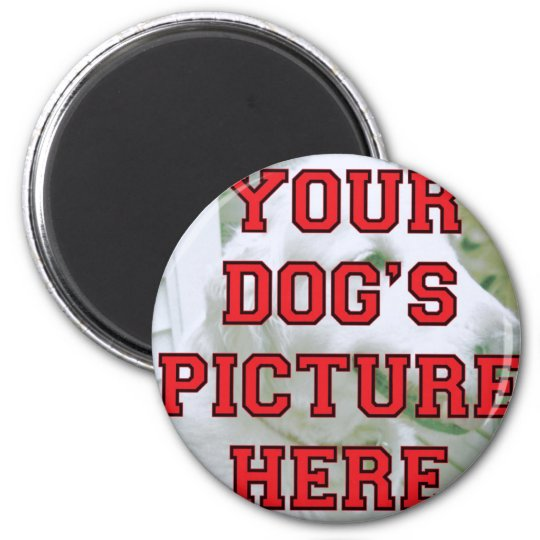 Customized Your Dog's Photo Magnet