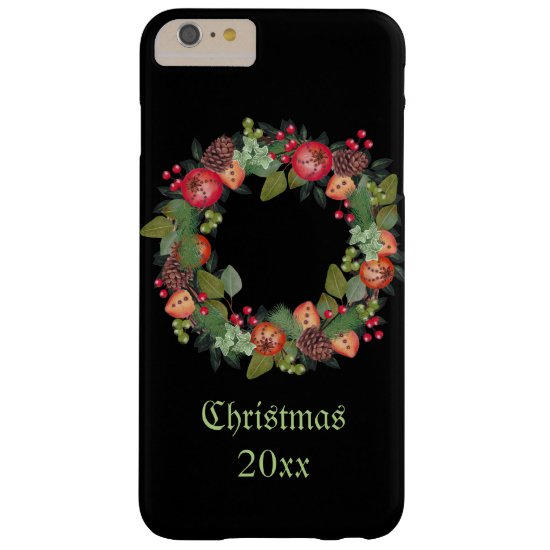CustomizedChristmas Phone Case with Holiday Wreath