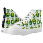 CustomizedShoes Alien Emoji emoticon add name Printed Shoes