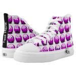 CustomizedShoes Alien Emoji emoticon purple High-Top Sneakers