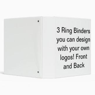 Customizible 3 Ringer Binders