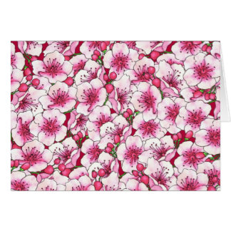 CustomizPink Blossoms Card