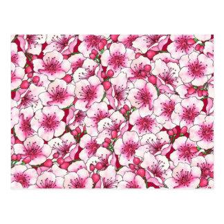 CustomizPink Blossoms Postcard