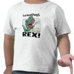 ¡Customosaurus Rex corrige con el nombre de su niñ Camisetas