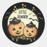 CustomVintage Halloween Pumpkin Stickers