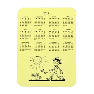 Customziable Retro Business Man 2013 Calendar Vinyl Magnets