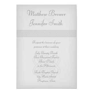 Custon Gray Irish Celtic Knot Wedding Invitation