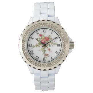 Custon Rhinestone enamel watch