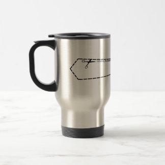 Cut a tie travel mug