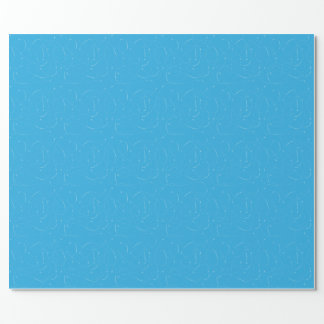 Cut Along Dotted Line - Blue Wrapping Paper